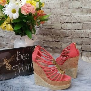 H By Halston Allison Coral Wedges
